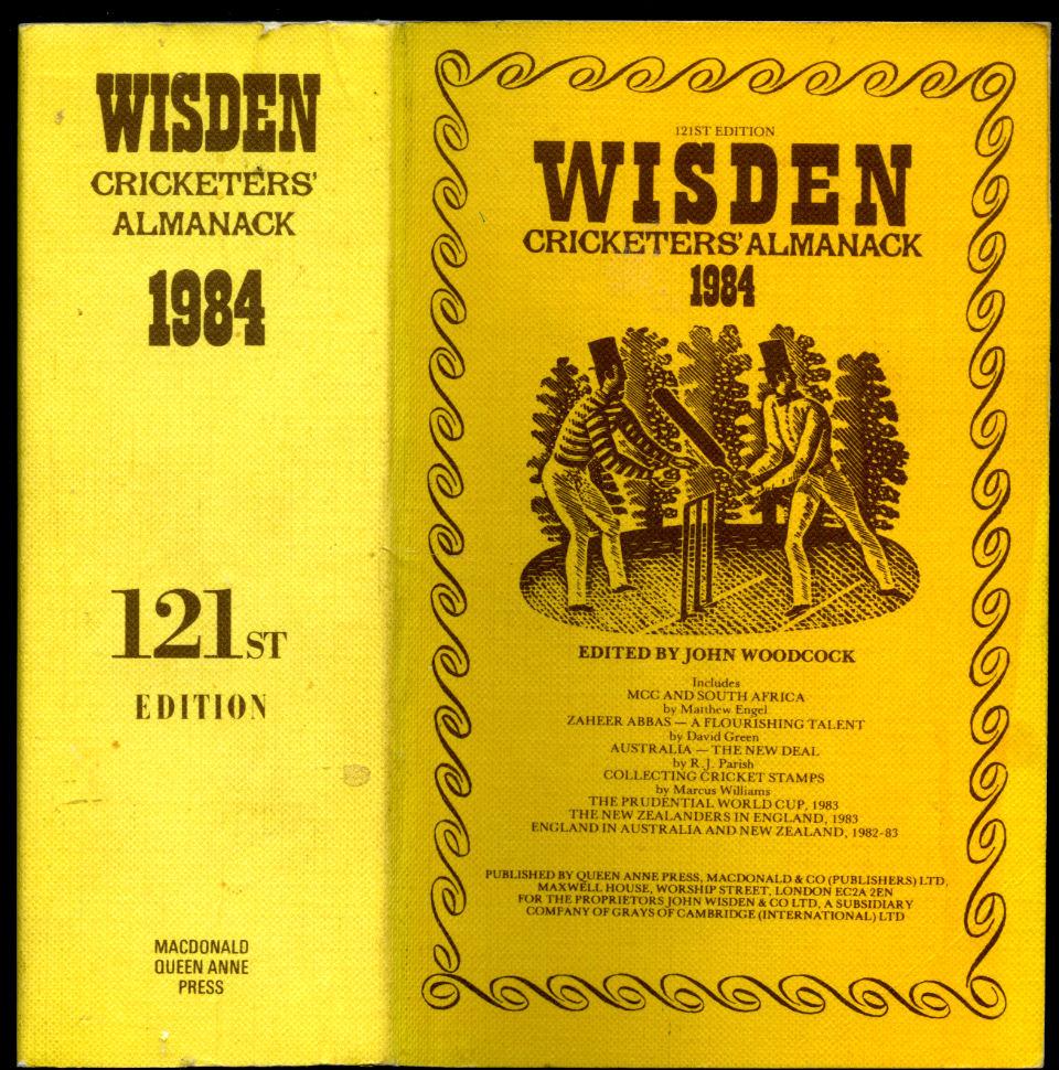 EDITED BY JOHN WOODCOCK - Wisden Cricketers' Almanack 1984 [121st Year]