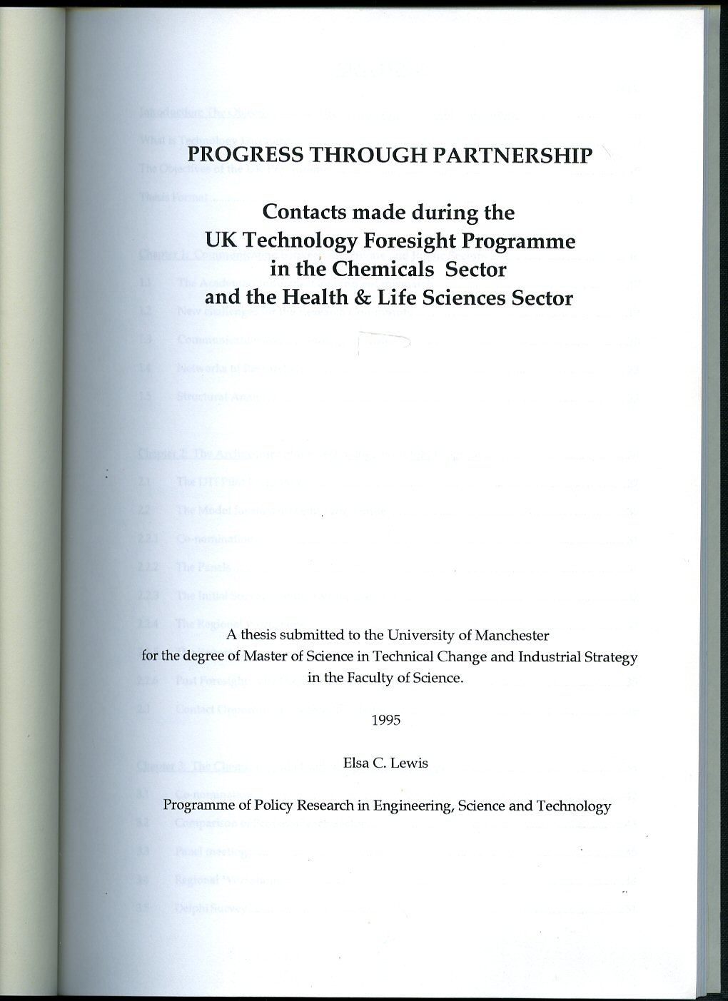 A thesis submitted for the degree of master of science