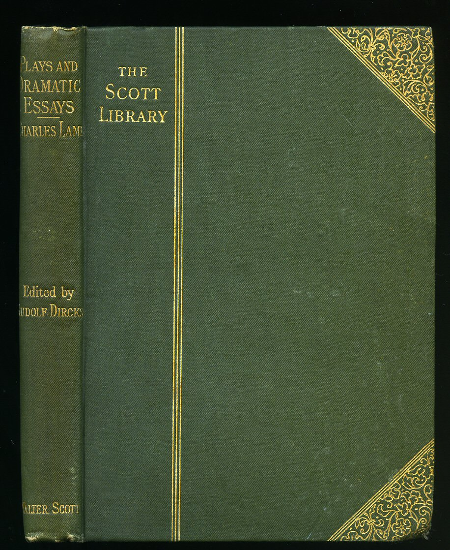 charles lamb lamb charles 1775 1834 introduction by rudolf dircks plays and dramatic
