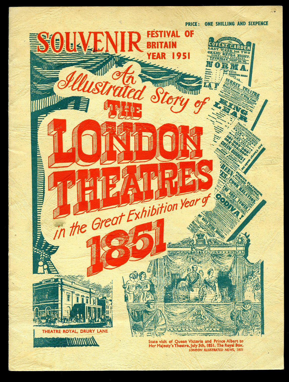 - Souvenir Festival of Britain Year 1951; An Illustrated Story of The London Theatres in the Great Exhibition Year of 1851