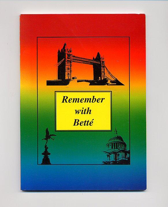 OLIVE-JONES, BETTÉ - Remember with Betté [Signed]