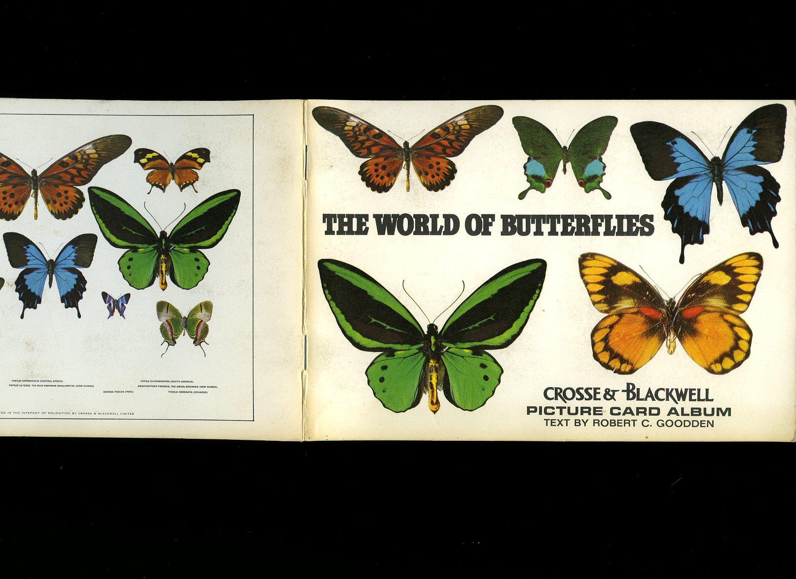 GOODDEN, ROBERT C. - The World of Butterflies: Crosse & Blackwell Picture Card Album [1]