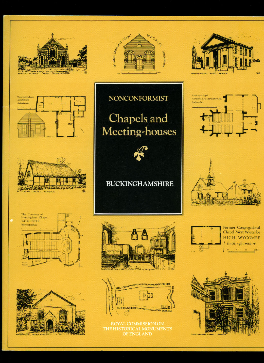 STELL, CHRISTOPHER [ROYAL COMMISSION ON THE HISTORICAL MONUMENTS OF ENGLAND] - Inventory of Nonconformist Chapels and Meeting Houses in Central England | Buckinghamshire